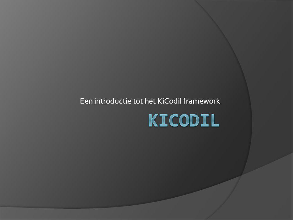 Een introductie tot het KiCodil framework