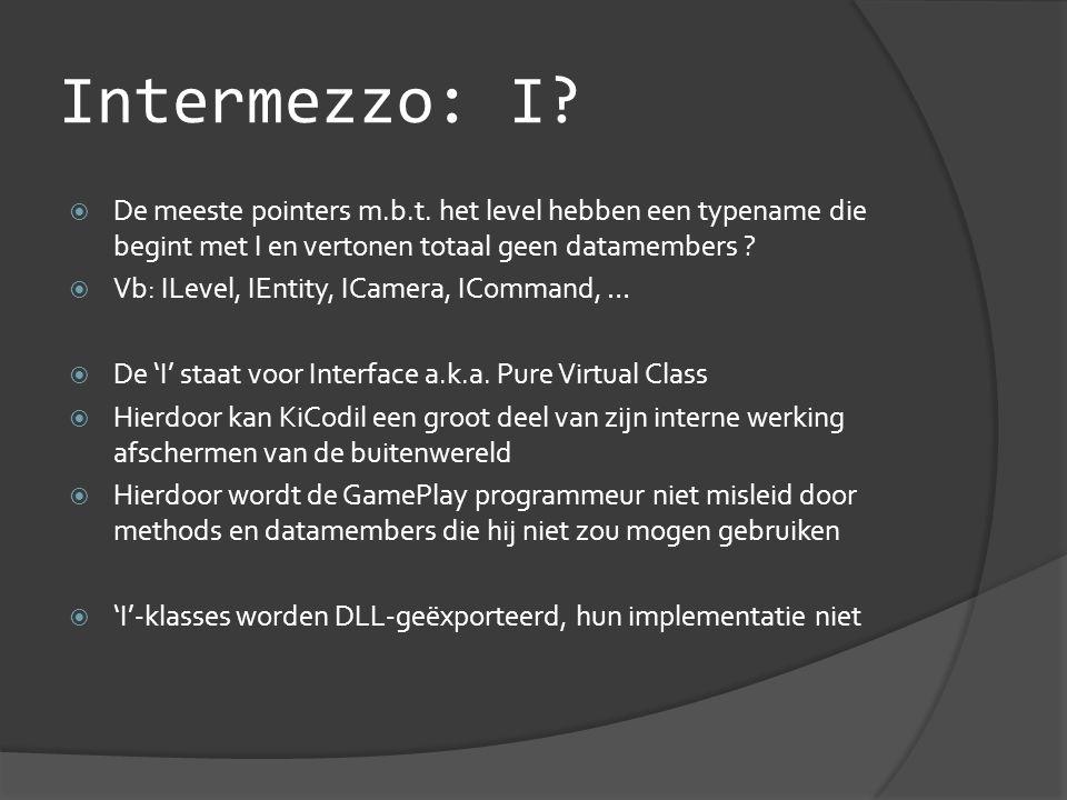 Intermezzo: I.  De meeste pointers m.b.t.