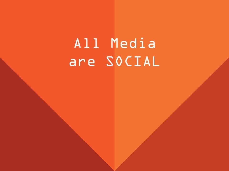 All Media are SOCIAL