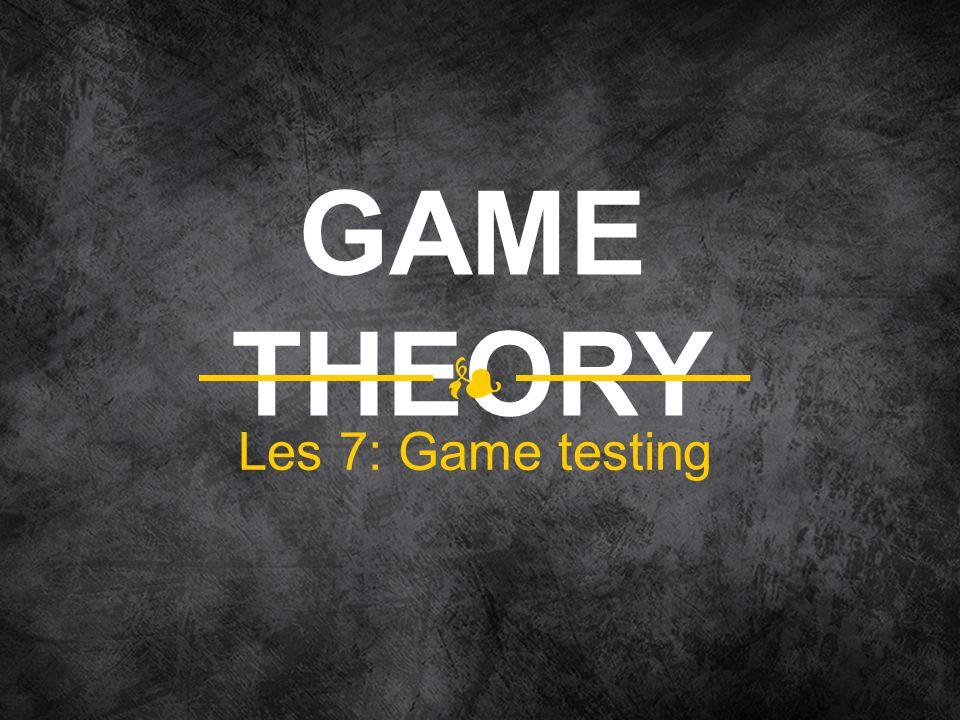 Les 7: Game testing