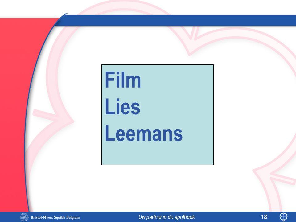 Uw partner in de apotheek 18 Film Lies Leemans