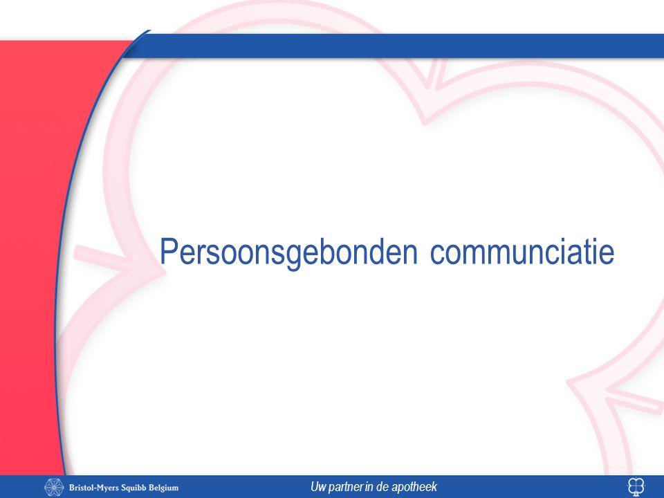 Uw partner in de apotheek Persoonsgebonden communciatie