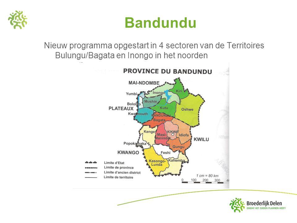 Bandundu Nieuw programma opgestart in 4 sectoren van de Territoires Bulungu/Bagata en Inongo in het noorden