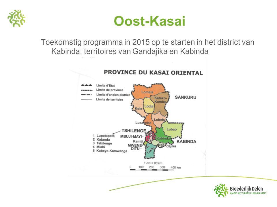 Oost-Kasai Toekomstig programma in 2015 op te starten in het district van Kabinda: territoires van Gandajika en Kabinda