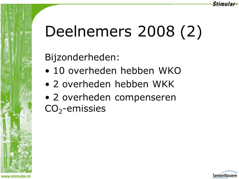 Vergelijking 2006 - 2007 25 deelnemers hebben milieubarometer over 2006 en 2007 ingevuld