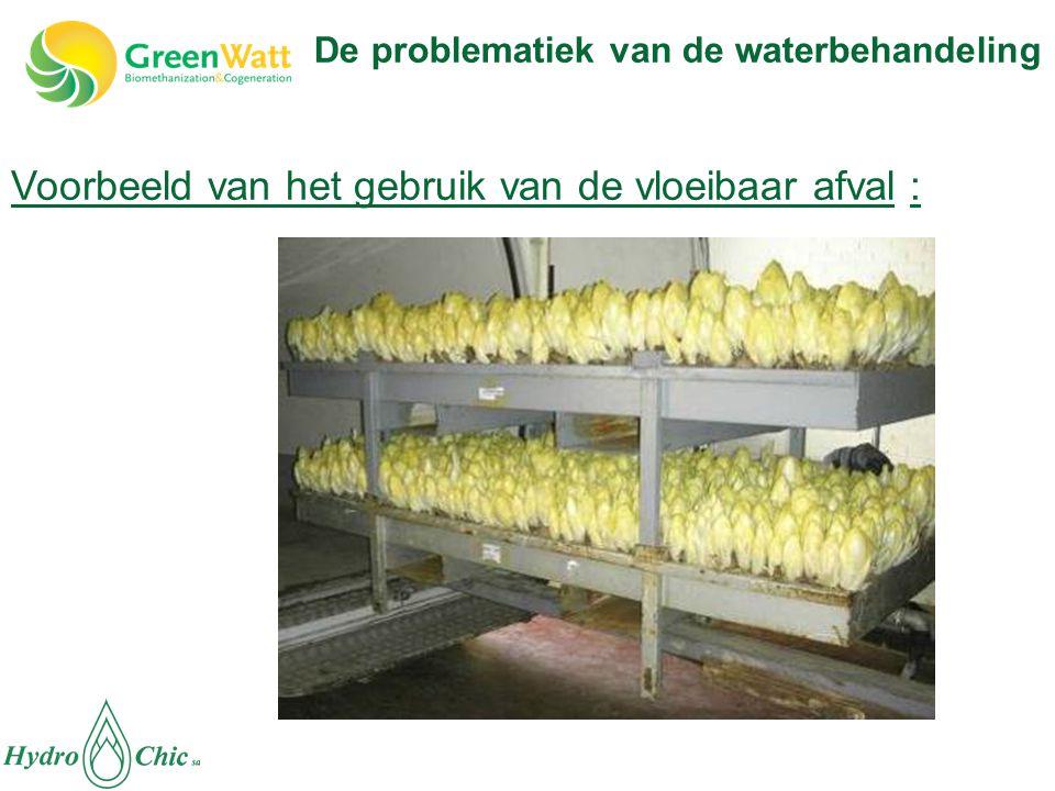 Voorbeeld van het gebruik van de vloeibaar afval : De problematiek van de waterbehandeling
