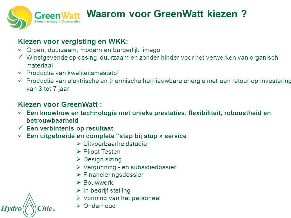 Kiezen voor vergisting en WKK:  Groen, duurzaam, modern en burgerlijk imago  Winstgevende oplossing, duurzaam en zonder hinder voor het verwerken va