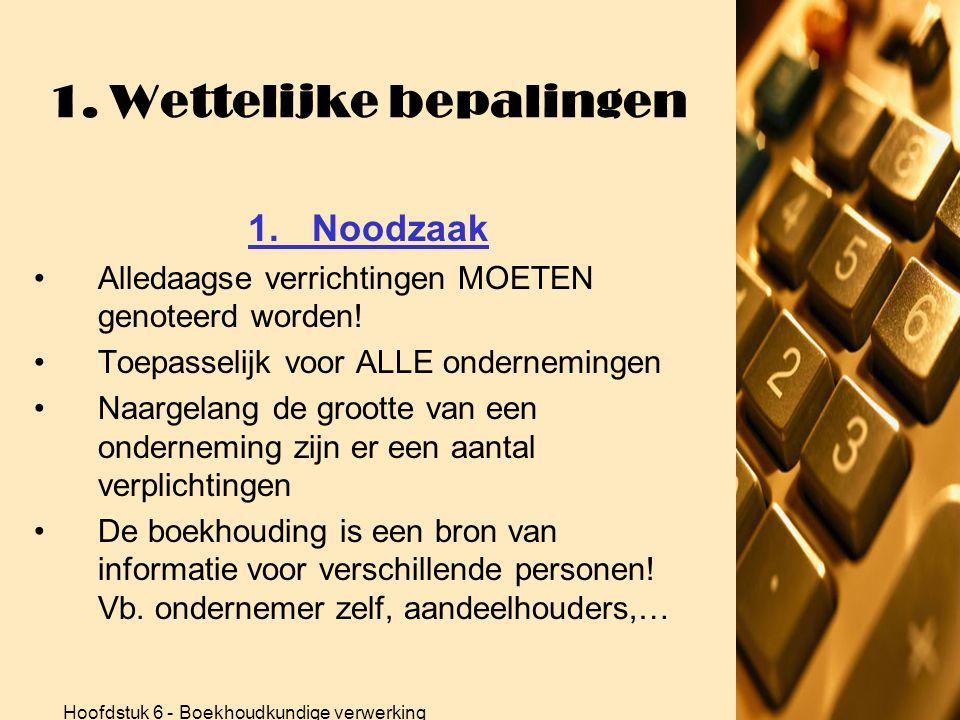Hoofdstuk 6 - Boekhoudkundige verwerking 2.Vereenvoudigde boekhouding 2.4 Inventaris •OEFENING p.