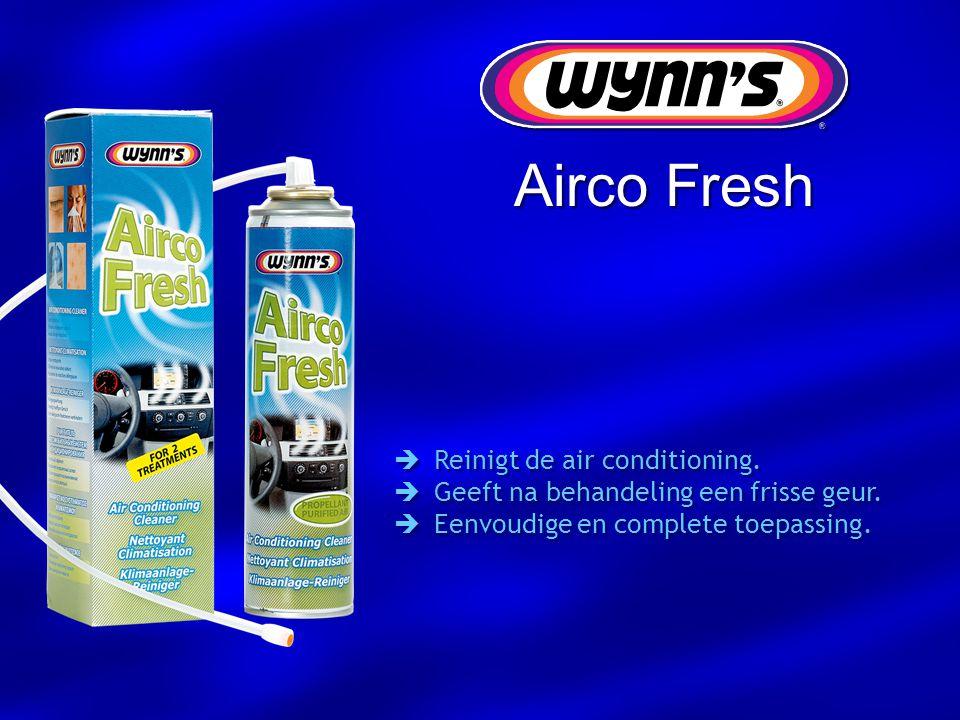  Reinigt de air conditioning.  Geeft na behandeling een frisse geur.  Eenvoudige en complete toepassing.  Reinigt de air conditioning.  Geeft na