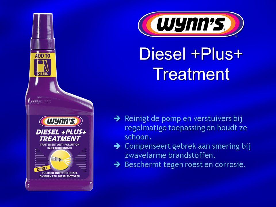  Reinigt de pomp en verstuivers bij regelmatige toepassing en houdt ze schoon.  Compenseert gebrek aan smering bij zwavelarme brandstoffen.  Besche
