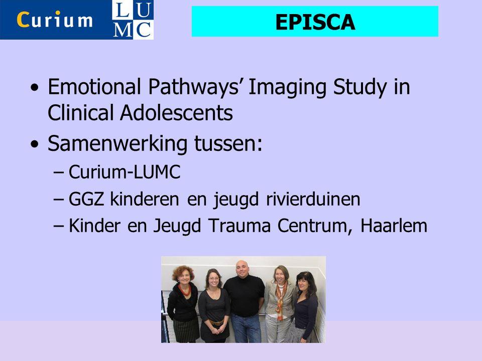 •Emotional Pathways' Imaging Study in Clinical Adolescents •Samenwerking tussen: –Curium-LUMC –GGZ kinderen en jeugd rivierduinen –Kinder en Jeugd Tra