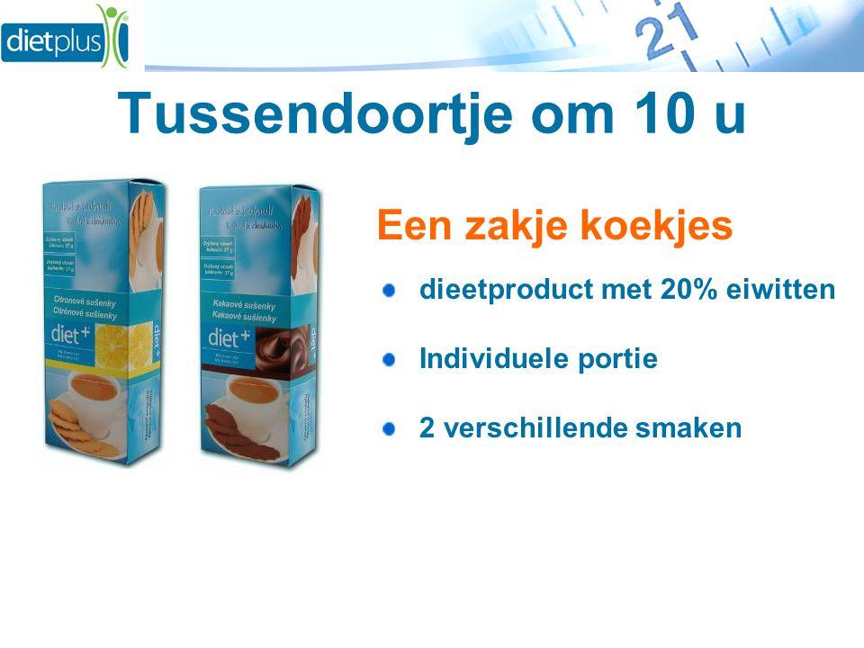 Tussendoortje om 10 u Een zakje koekjes dieetproduct met 20% eiwitten Individuele portie 2 verschillende smaken