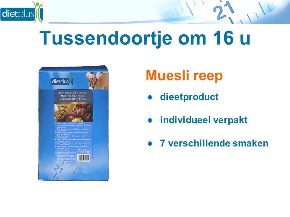 Tussendoortje om 16 u Muesli reep dieetproduct individueel verpakt 7 verschillende smaken