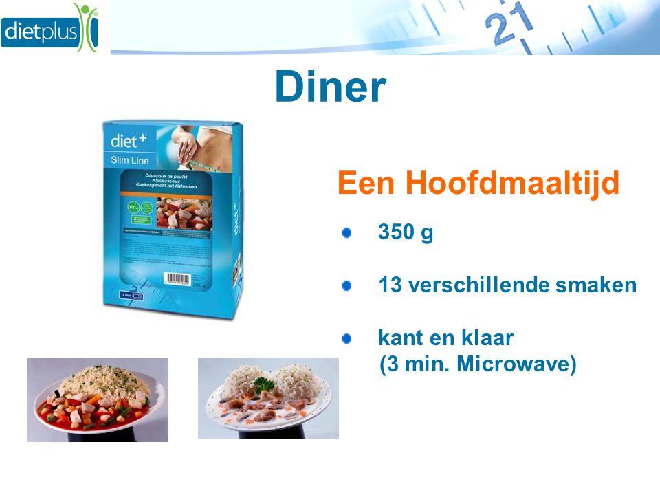 Diner Een Hoofdmaaltijd 350 g 13 verschillende smaken kant en klaar (3 min. Microwave)