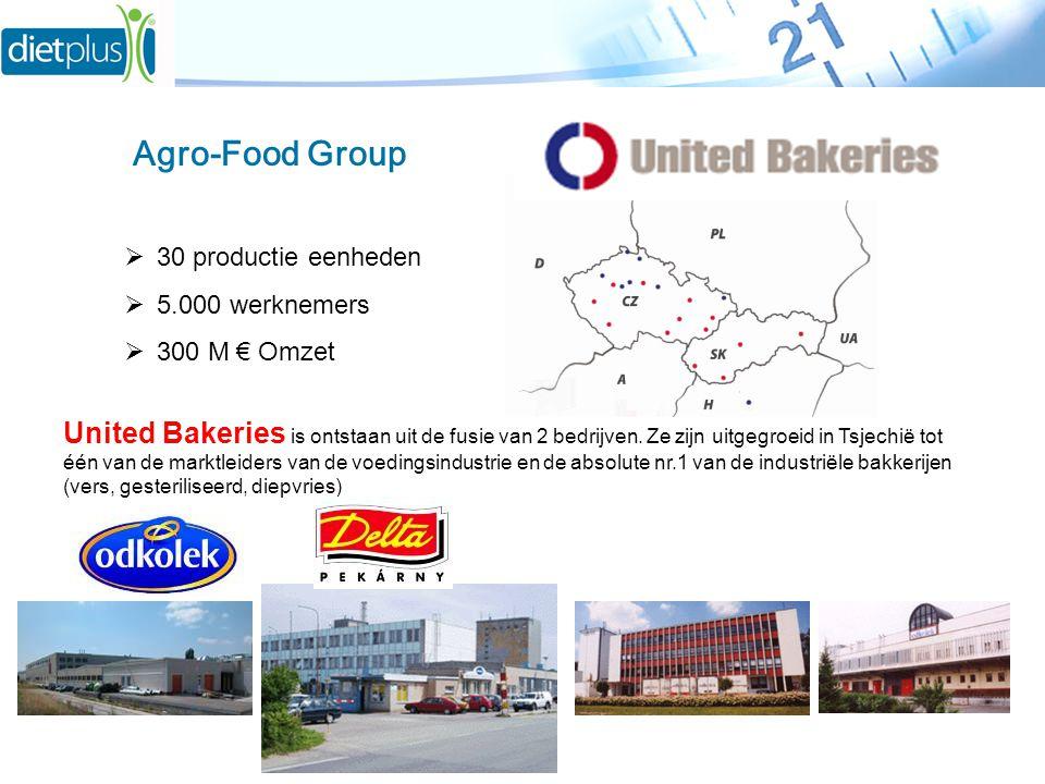 United Bakeries is ontstaan uit de fusie van 2 bedrijven. Ze zijn uitgegroeid in Tsjechië tot één van de marktleiders van de voedingsindustrie en de a
