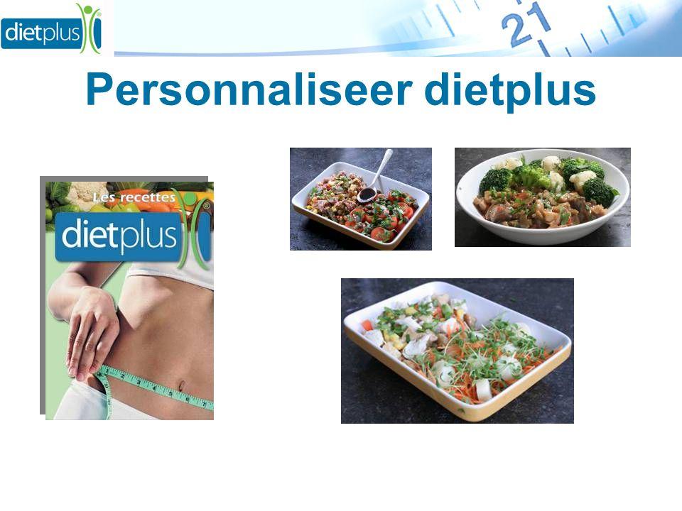 Personnaliseer dietplus
