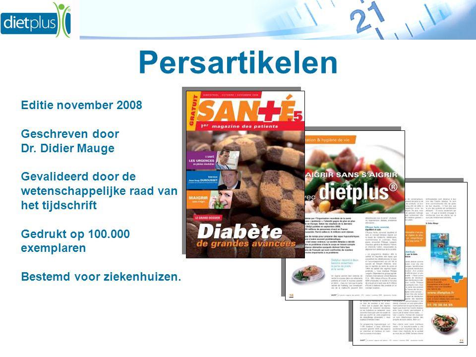 Persartikelen Editie november 2008 Geschreven door Dr. Didier Mauge Gevalideerd door de wetenschappelijke raad van het tijdschrift Gedrukt op 100.000