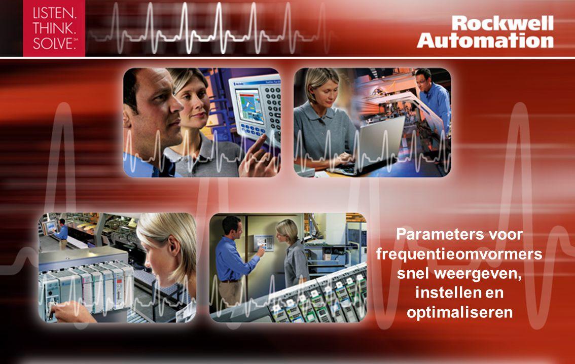 Parameters voor frequentieomvormers snel weergeven, instellen en optimaliseren