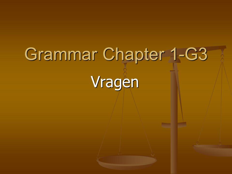 Grammar Chapter 1-G3 Vragen