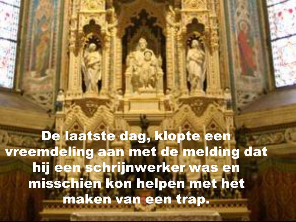 Gedurende 9 dagen baden ze tot St-Jozef, en... zou er nu echt niemand zijn die zich zou komen aanbieden om te helpen?