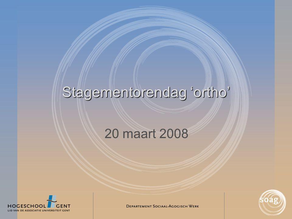 Stagementorendag 'ortho' 20 maart 2008