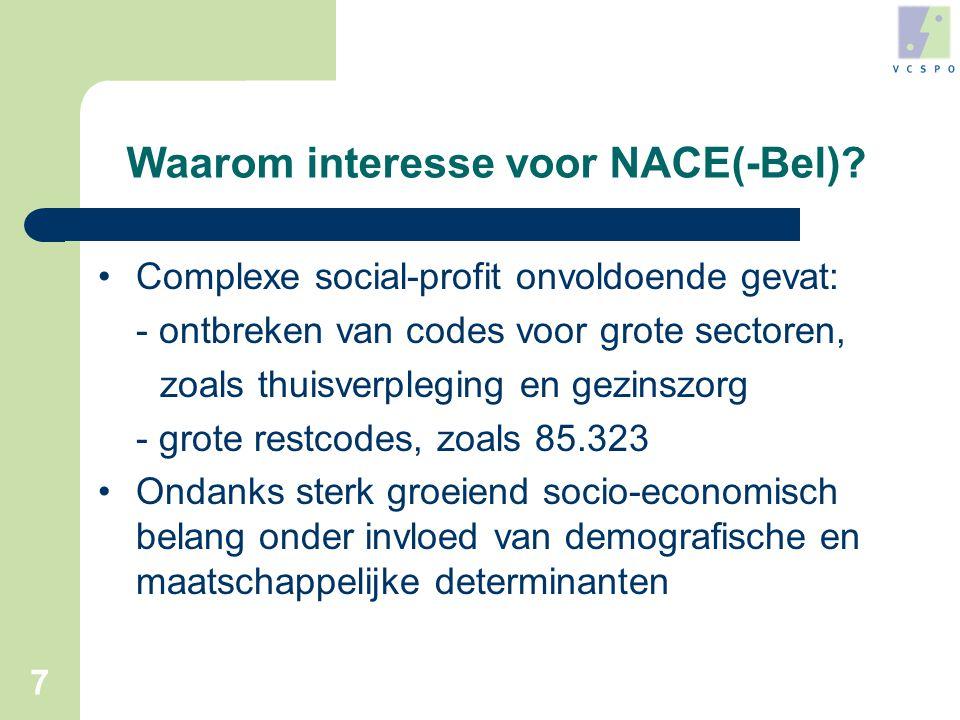 7 Waarom interesse voor NACE(-Bel).