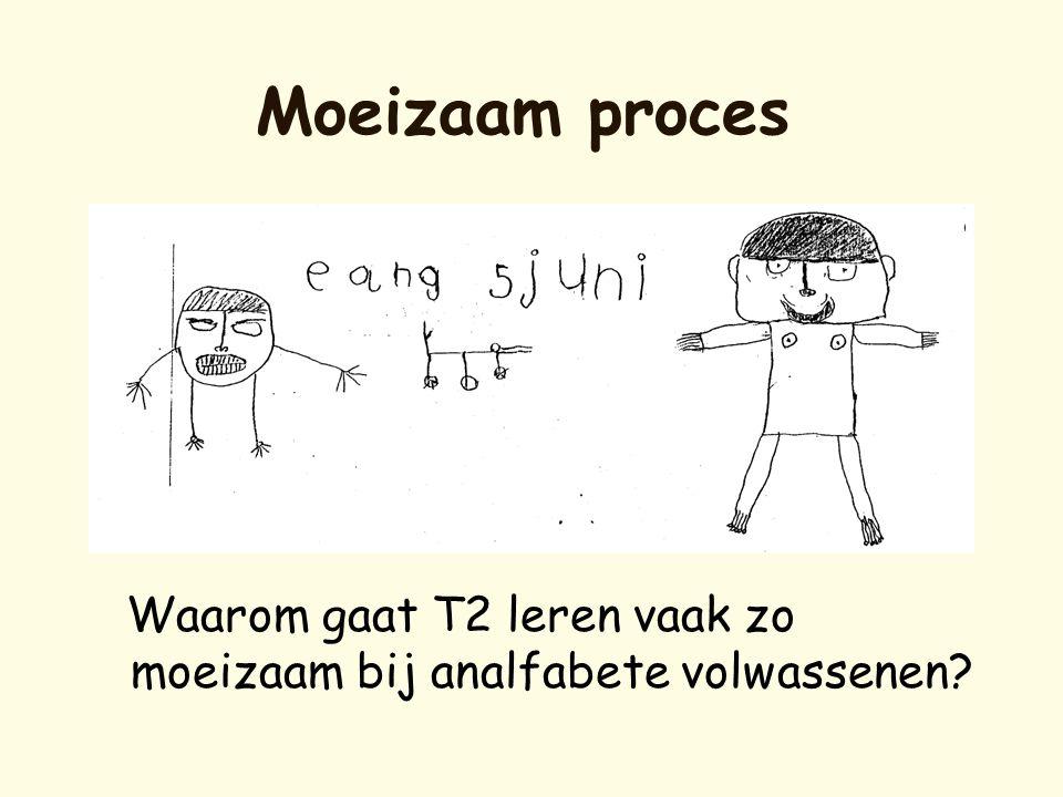 Moeizaam proces Waarom gaat T2 leren vaak zo moeizaam bij analfabete volwassenen?