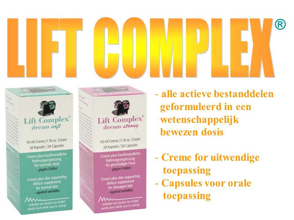 ® - alle actieve bestanddelen geformuleerd in een wetenschappelijk bewezen dosis - Creme for uitwendige toepassing apsules voor orale toepassing