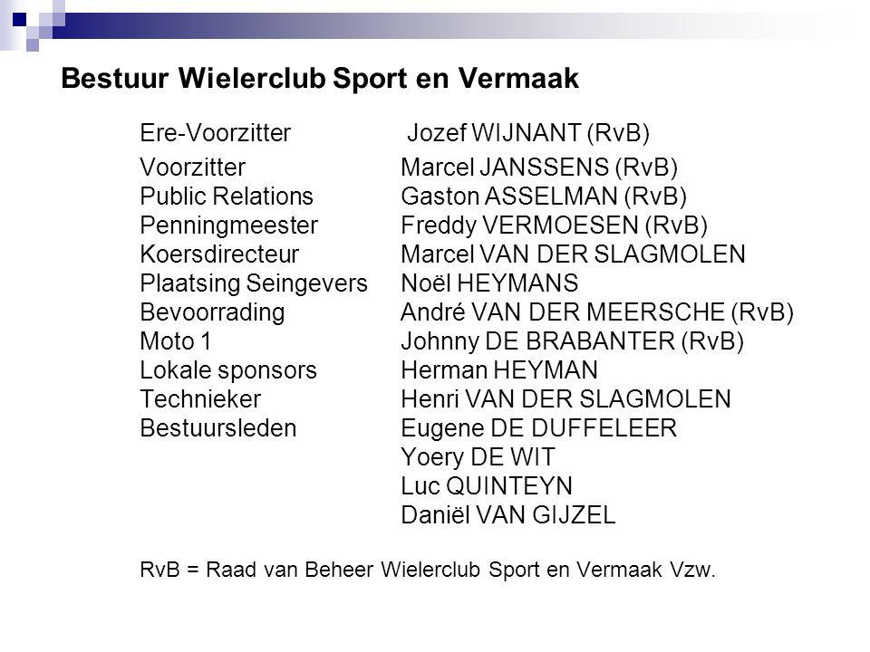Deelnemende ploegen en sportdirecteurs 39ste Liedekerkse Pijl 2009  1.