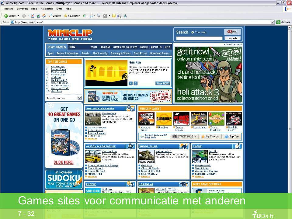 7 - 32 Games sites voor communicatie met anderen