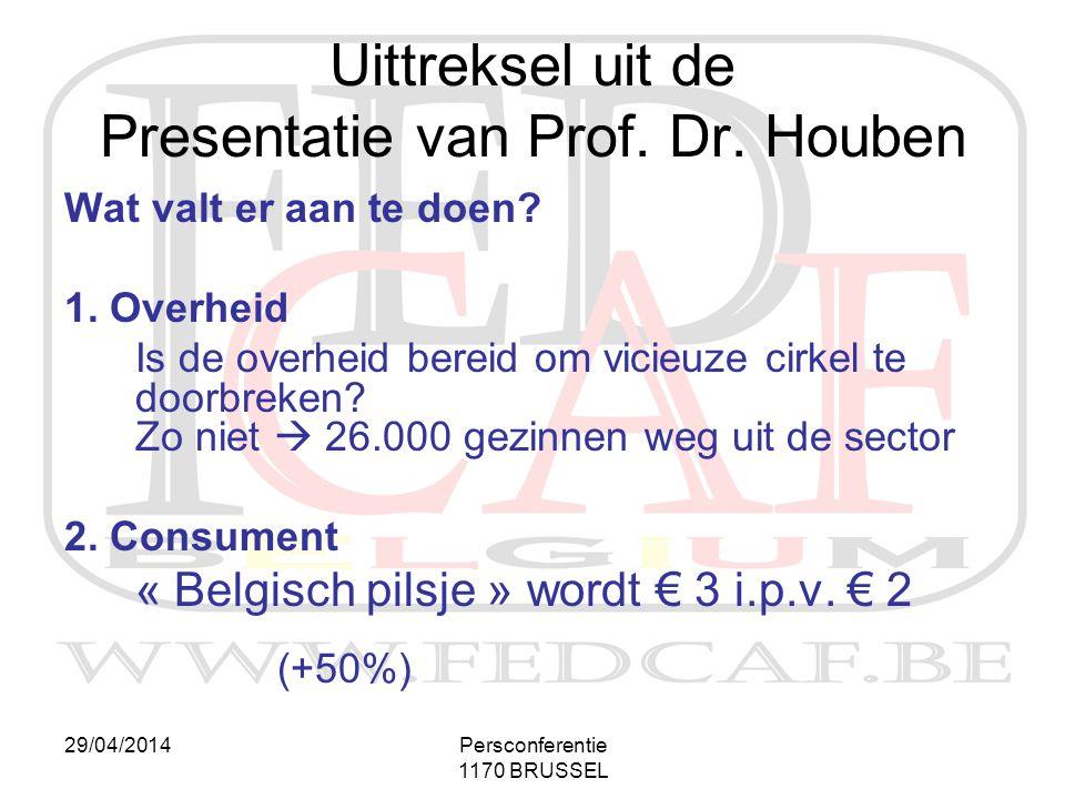 29/04/2014Persconferentie 1170 BRUSSEL Wat valt er aan te doen? 1. Overheid Is de overheid bereid om vicieuze cirkel te doorbreken? Zo niet  26.000 g