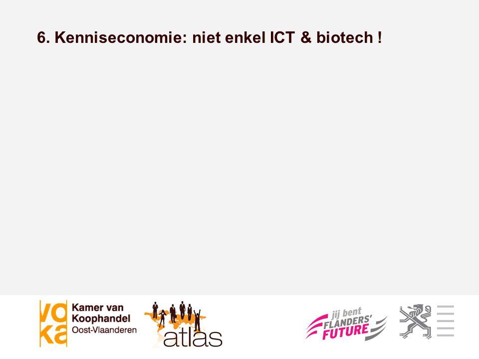 Kenniseconomie 'Traditionele' sectoren 6. Kenniseconomie: niet enkel ICT & biotech !