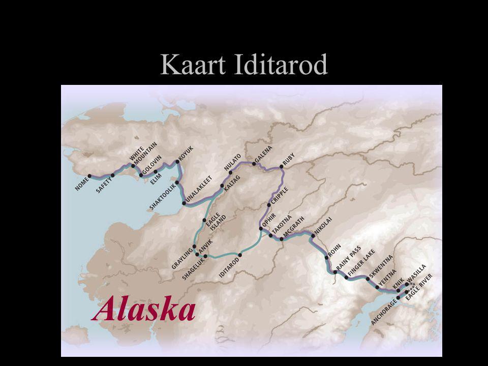 Kaart Iditarod Alaska