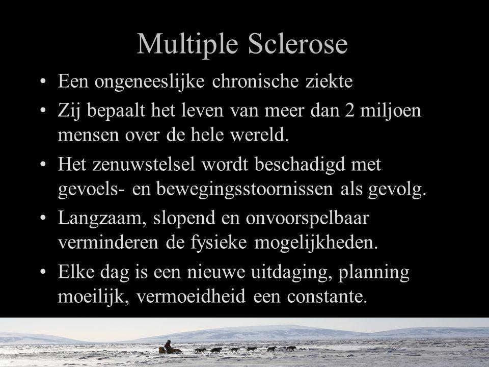 Multiple Sclerose •Een ongeneeslijke chronische ziekte •Zij bepaalt het leven van meer dan 2 miljoen mensen over de hele wereld.