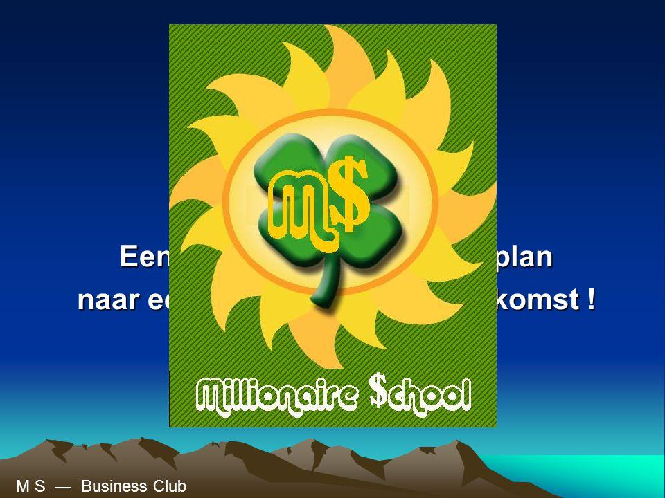 De miljonair school Een concreet begeleidend plan naar een betere financiële toekomst .