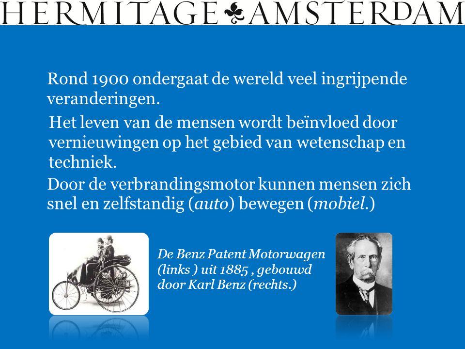 Rond 1900 ondergaat de wereld veel ingrijpende veranderingen. Het leven van de mensen wordt beïnvloed door vernieuwingen op het gebied van wetenschap
