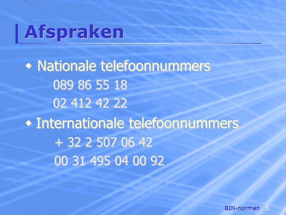 BIN-normen16 Normen voor brieven  Slotformule en handtekening Met beleefde groeten  Jan Coenen Directeur personeelsdienst