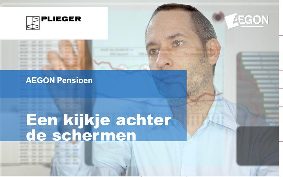 1 Een kijkje achter de schermen AEGON Pensioen