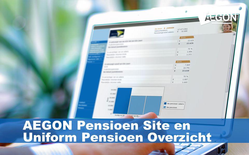 24 AEGON Pensioen Site en Uniform Pensioen Overzicht