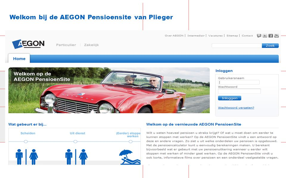 25 Welkom bij de AEGON Pensioensite van Plieger