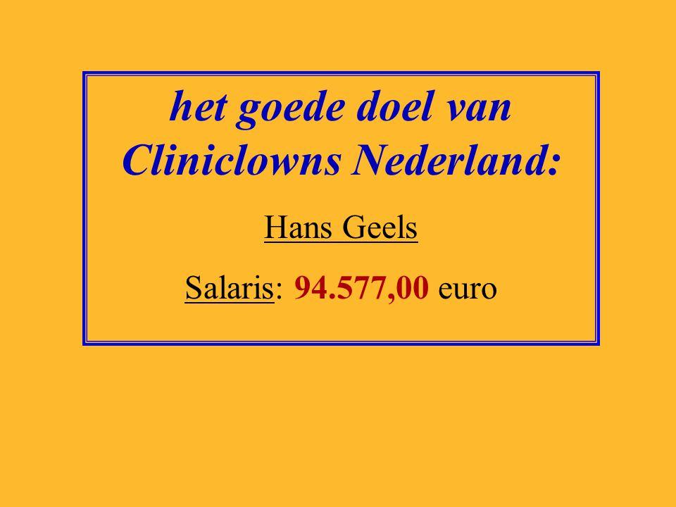 het goede doel van SOS Kinderdorp: Albert Jaap van Santbrink Salaris: 103.164,00 euro