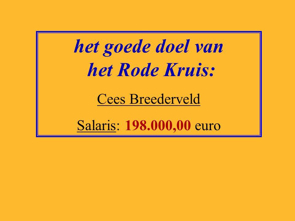 het goede doel van het Rode Kruis: Cees Breederveld Salaris: 198.000,00 euro