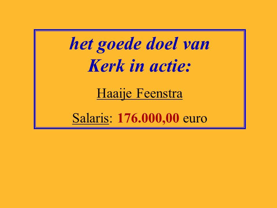 het goede doel van het Astma fonds: Michael Rutgers Salaris: 125.000,00 euro