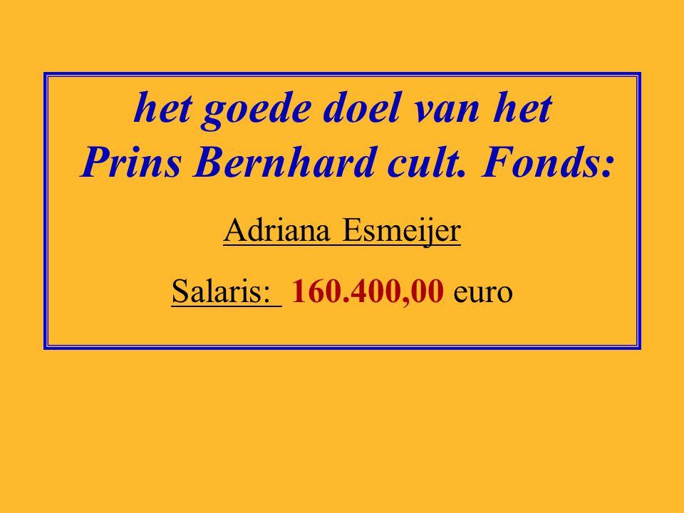het goede doel van Artsen zonder Grenzen: Hans van de Weerd Salaris: 174.000,00 euro