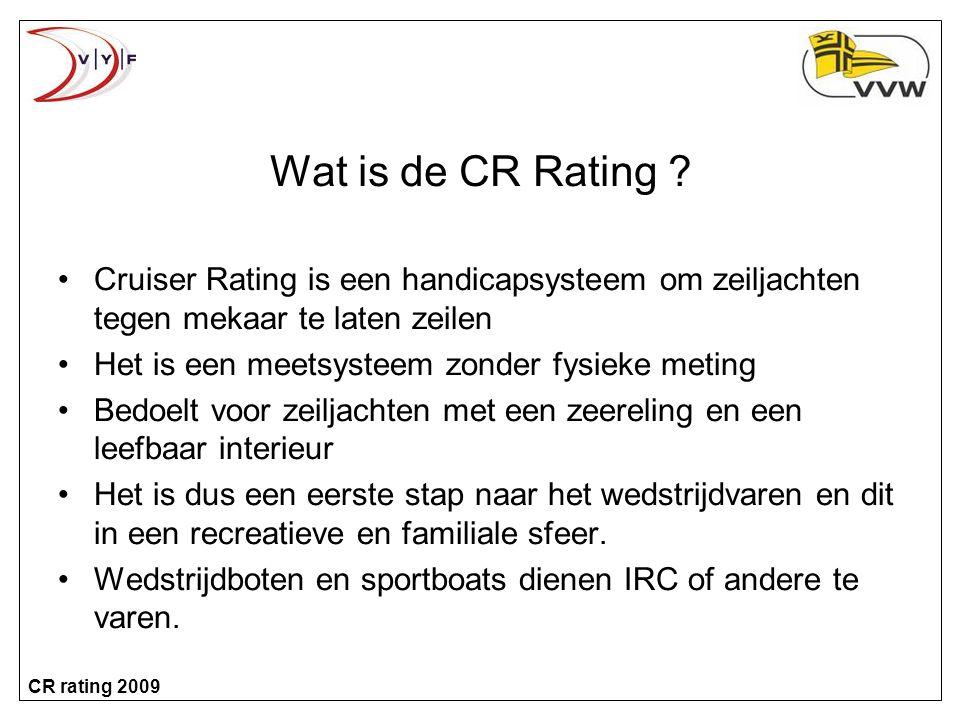 CR rating 2009 Wat is de CR Rating .