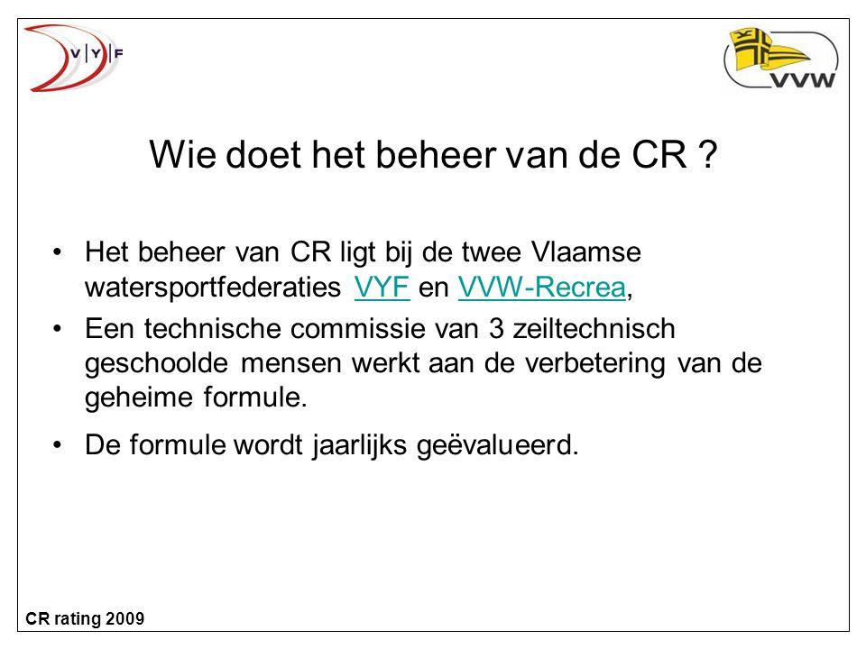 CR rating 2009 Voorbeeld meetbrief...