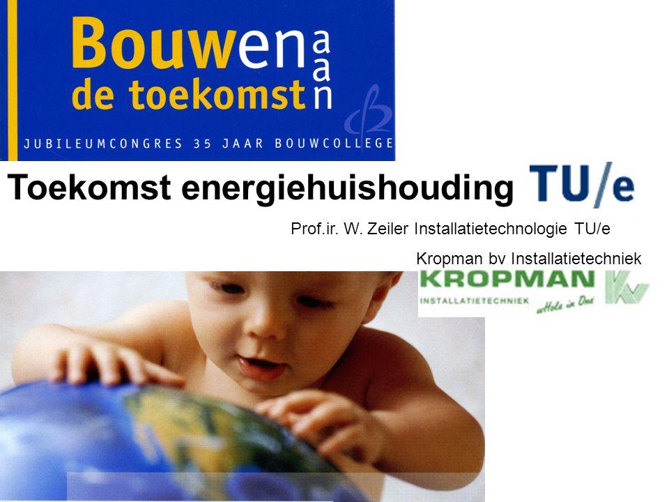 Toekomst energiehuishouding Prof.ir. W. Zeiler Installatietechnologie TU/e Kropman bv Installatietechniek