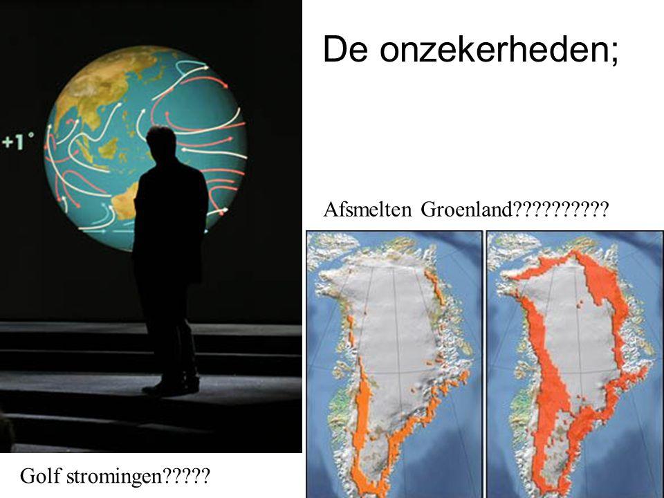 Golf stromingen????? Afsmelten Groenland?????????? De onzekerheden;