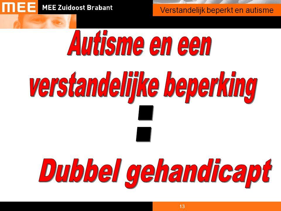 13 Onderwerp presentatie Verstandelijk beperkt en autisme