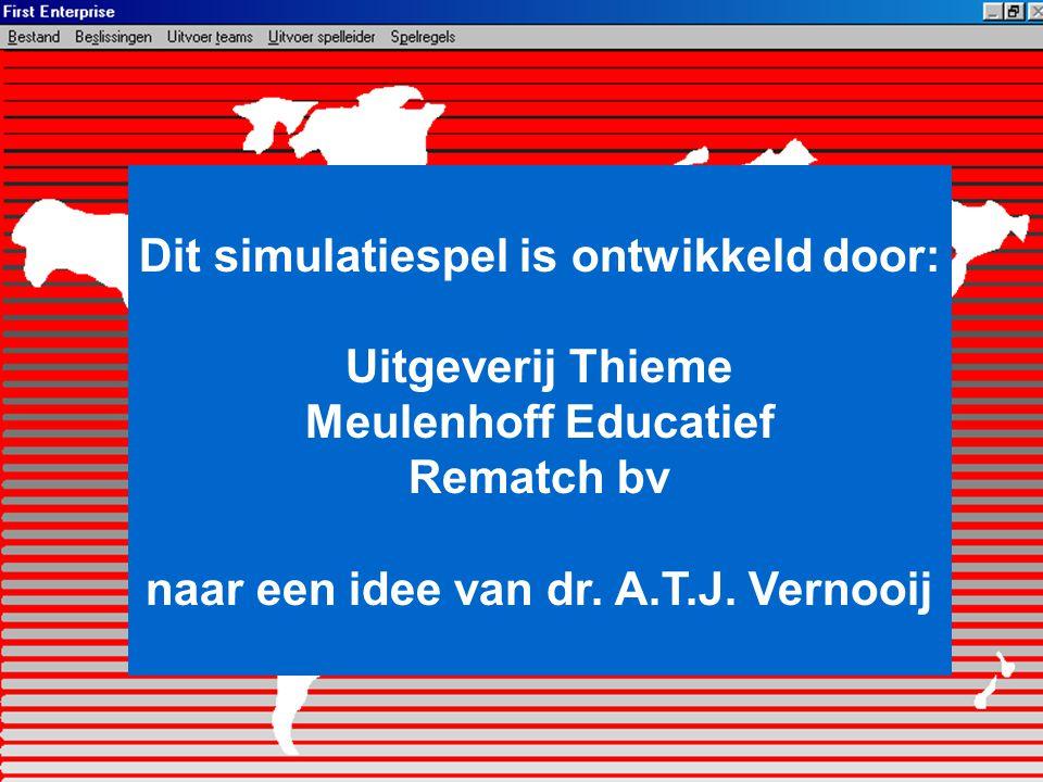 Dit simulatiespel is ontwikkeld door: Uitgeverij Thieme Meulenhoff Educatief Rematch bv naar een idee van dr. A.T.J. Vernooij